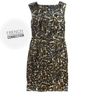 French Connection Patterned Pencil Dress [size 4]